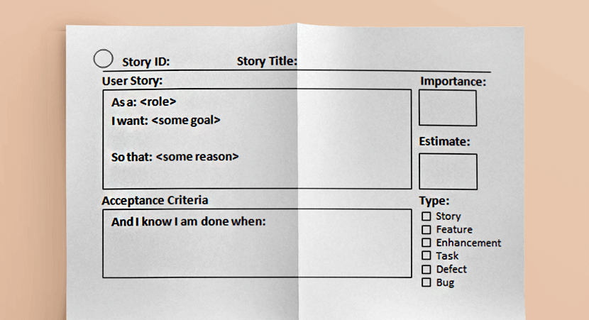 List the ideas in the form of user stories in the product backlog